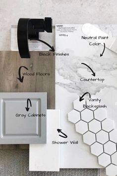 Give the Trendy Modern Rustic Look to Your Bathroom Using a Combination of Our Hand-Build Rustic Furniture, Black Finishes, Mosaic Tile and Wood Floors . Upstairs Bathrooms, Basement Bathroom Ideas, Bathroom Wood Floors, Small Master Bathroom Ideas, Master Shower Tile, Dark Wood Bathroom, Light Grey Bathrooms, Bathroom Floor Plans, Small Bathroom Vanities