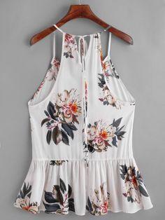 Buy Beautiful Gifts Women Floral Casual Sleeveless Crop Top Vest Tank Shirt Blouse Cami Top at Wish - Shopping Made Fun Cami Tops, Sleeveless Crop Top, Tank Shirt, Ladies Dress Design, Romwe, Shirt Blouses, Shirts, Spring Outfits, Beachwear
