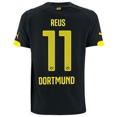 BVB Away Shirt 2014/15 Black with Reus 11 printing