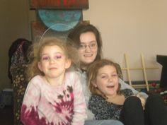 Three of my silly girls.
