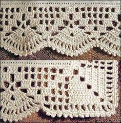 Crochet Border Patterns, Crochet Lace Edging, Filet Crochet, Crochet Designs, Crochet Doilies, Knitting Patterns, Crochet Instructions, Crochet Flower Tutorial, Crochet Daisy