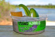 Our sweet and spicy black bean hummus has the perfect balance of zest and sweetness and is perfect for anything from quesadillas to just eating it by the spoonful. #odang #hummus #blackbean #fitfood