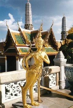 The temple of the Reclining Buddha or Wat Pho in Bangkok.