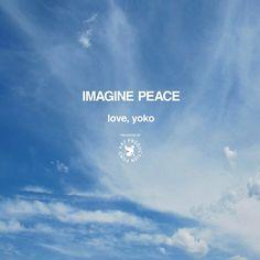 IMAGINE PEACE love, yoko