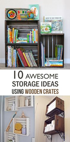 Amazing 10 Awesome Storage Ideas Using Wooden Crates   Creative Ideas On How To Re  Purpose Photo