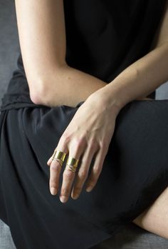 *Accompany x SOKO Exclusive Notch Triple Band Ring -- add a touch of bohemian glam to your look with this intricately designed ring. Accompany has teamed up with SOKO on an exclusive collection of jewelry impacting artisan communities in Kenya.  All items handmade; all hands paid a fair wage; all wages making an impact.