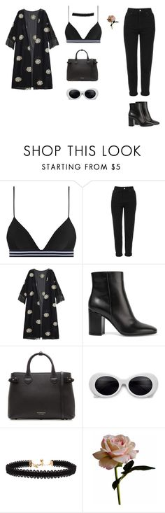 """DNA"" by xoxotiffvni on Polyvore featuring Zimmermann, Topshop, Gianvito Rossi, Burberry, Vanessa Mooney and Abigail Ahern"