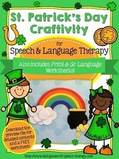 You'll love these language activities & cute St. Patrick's Day craftivity!