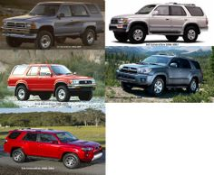 Toyota 4-Runner Generations