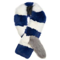 40 Perfect Gifts for Women Who Aren't Easily Impressed Navy Shawl, Navy Blue Scarf, Striped Scarves, Charlotte Simone, 2015 Trends, Big Daddy, Fur Collars, Fox Fur