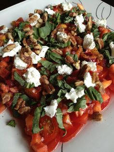 Della Terra Heirloom Tomato and Niagara Peach Salad Recipe