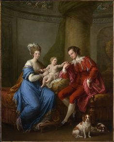 Edward Smith Stanley (1752–1834), Twelfth Earl of Derby, with His First Wife (Lady Elizabeth Hamilton, 1753–1797) and Their Son (Edward Smith Stanley, 1775–1851)  Angelica Kauffmann (Swiss, Chur 1741–1807 Rome)