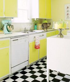 retro style. love the mixer colour.