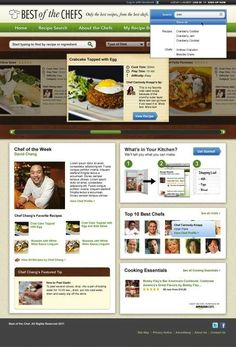 Best of the Chefs | Recipe site web design | SPARK Experience