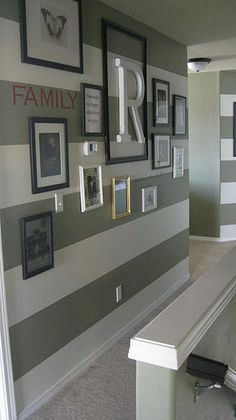 Striped Entryway Walls