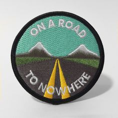 "This 2.75"" patch is ready to go where you're going. 100% embroidered with a merrowed edge to match any sweet surface. Features iron on backing."