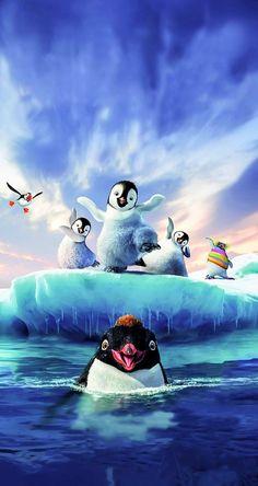 Simple Iphone Wallpaper, Penguins, Cartoon Cartoon, Happy, Anime, Penguin, Ser Feliz, Cartoon Movies, Anime Music