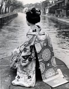 Maiko in Japan. About mid-20th century