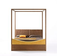 Wooden canopy #bed NIDO by Eco & co | #design Studio Design Group #bedroom