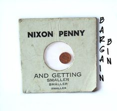 Items similar to The Nixon Penny and Getting Smaller Sealed in Protective Holder on Etsy Team Gifts, Poster On, Sell On Etsy, Etsy Vintage, Seal, Etsy Shop, Handmade, Independent Business, Coins