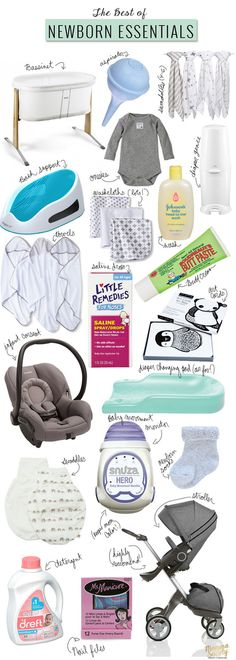 Newborn Baby Gear Essentials + Free Printable Checklist — Momma Society Newborn Essentials for Surviving the First Month of Motherhood Baby Needs, Baby Love, Newborn Needs, Baby Newborn, Things For Newborn Baby, Newborn Care, 5 Weeks Pregnant, My Bebe, Baby Monitor