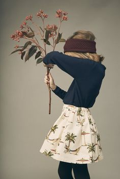 Fun seaside print as a twist for winter at Leoca Paris chic kidswear inspired by Horst P Horst
