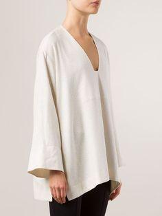 The Row Loose V-neck Blouse - - Farfetch.com