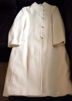 White Wool Forstmann Elegant Womans Coat Vintage Classic Style #Women #Fashion #Designer #Fall #Outfit