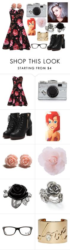 """""""Untitled #49"""" by jkat598 on Polyvore featuring Kate Spade, Disney, Natures Jewelry, Ray-Ban, Lanvin, women's clothing, women, female, woman and misses"""