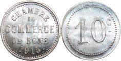 France Finest Algéria Colonies 10 Centimes Commerce 1915 Bône PCGS MS66 - WinNumis Auction #4 Millenium, World Coins, France, Commerce, Auction, French
