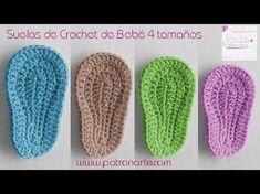 How To Crochet Cute And Easy Baby Booties/ Baby Sneakers Crochet Baby Booties Tutorial, Crochet Baby Sandals, Booties Crochet, Crochet Slippers, Crochet Sole, Diy Crochet, Crochet Hats, Crochet Fabric, Converse En Crochet