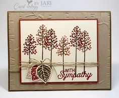 Thoughtful Branches  As a sympathy card. Love the use of the woodlands EF as bkgrd