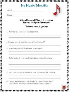 MUSIC CLASSROOM! Back to School Music Student First Day Information Sheets. Be organized from Day 1!!! ♫ CLICK through to preview or save for later! ♫