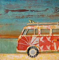 Danny Phillips art on etsy...I have always wanted a VW bus !