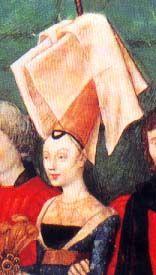 .História da Moda.: A Moda na Era Medieval – Parte 3: Anos 1350 a 1450 (Late Gothic)Adorno Borboleta