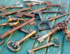 Reid takes some keys off of his wall and begins polishing and reorganizing them. OPEN RP