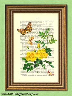 BUTTERCUPS AND BUTTERFLIES  Dictionary art by littlevintagechest, $7.99