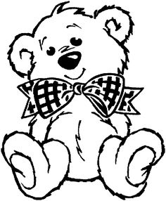 Valentine\'s Day Teddy Bear Coloring Page | Pinterest | Teddy bear ...