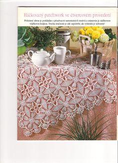 Kira crochet: Crocheted motif no. Knit Or Crochet, Crochet Motif, Crochet Crafts, Crochet Tablecloth Pattern, Crochet Bedspread, Doily Patterns, Crochet Patterns, Crochet Dollies, Crochet Squares