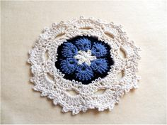 Art Threads: Monday Project - Crocheted Flower Face Cloths