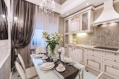 Дизайн кухни 9 кв. м в классическом стиле