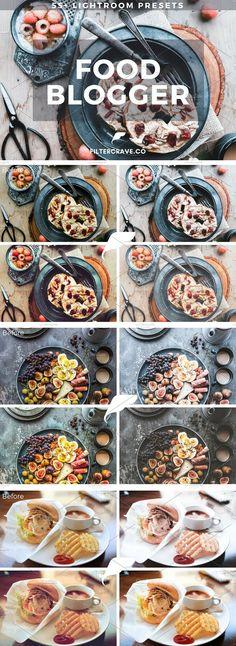 Food Blogger Lightroom Presets Vol I by Filtercrave on @creativemarket