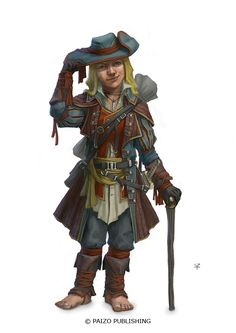 Halfling Gambler by Windmaker armor clothes clothing fashion player character npc | Create your own roleplaying game material w/ RPG Bard: www.rpgbard.com | Writing inspiration for Dungeons and Dragons DND D&D Pathfinder PFRPG Warhammer 40k Star Wars Shadowrun Call of Cthulhu Lord of the Rings LoTR + d20 fantasy science fiction scifi horror design | Not Trusty Sword art: click artwork for source
