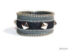 Black rock #bracelet #zipper bracelet