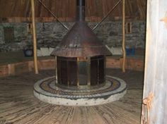 hearth in celtic roundhouse