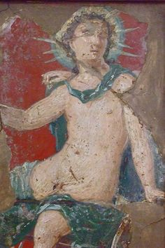 Roman frescoes recovered from Vesuvian Ash in Stabiae 1st century BCE-1st century CE (3)   by mharrsch