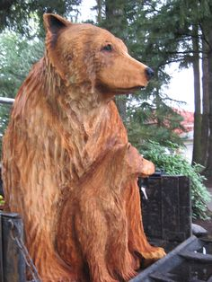Chainsaw Beaver Carvings for Sale | This pair is carved from Western Red Cedar.