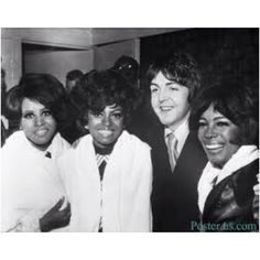 """""""Paul McCartney w/Diana Ross & Mary Wilson of The Supremes"""" Diana Ross Supremes, Mary Wilson, Paul And Linda Mccartney, The White Album, Les Beatles, Music Icon, Music Mix, Soul Music, Cultural"""