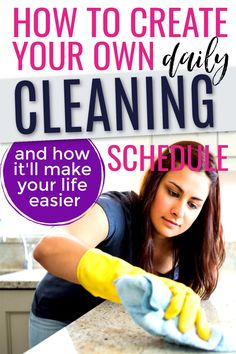 Do you have a cleaning schedule? These clean house tips include a daily cleaning checklist that'll teach you how to keep your house clean. | Quick cleaning schedule | Clean house hacks | Clean house fast | Tips for keeping a clean house | Clean house schedule daily routine | Sahm schedule daily routine for a clean house #busymom #momtips #momlife #productivityhacks #timemanagementtips