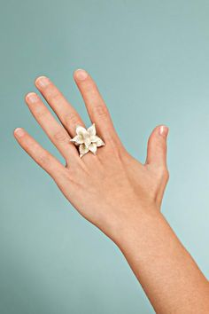 Jewelry - Silver ring - Flower